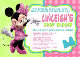 how to make minnie mouse baby shower invitations templates u2014 anouk
