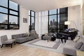 Floor To Ceiling Curtains Decorating White Sheer Curtains On A Floor To Ceiling Living Room Window In