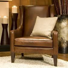 Leather Accent Chairs For Living Room Elements Home Furnishings Bristol Top Grain Leather Accent