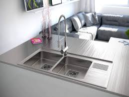 awesome brushed nickel modern kitchen sink with single pullout