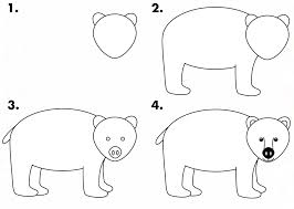 coloring pages wonderful simple bear drawings drawing of a with