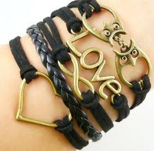 Popular Items For Love Anchors - hot infinity love anchor leather cute charm bracelet plated bronze