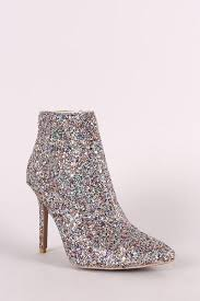 s qupid boots s qupid glitter encrusted pointy toe stiletto booties