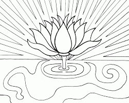 lotus flower coloring pages coloring home