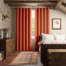 Contemporary Orange Curtains Designs Lovable Burnt Orange Curtains And Striped Contemporary Window