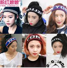 sports hair bands qoo10 korean hair accessories headdress hair bands wool knitted