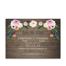 watercolor flowers wedding save the date cards