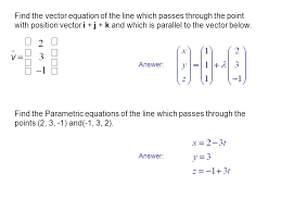 find the vector equation of the line which p through the point with position vector i