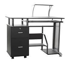 Computer Desk Amazon amazon com comfort products rothmin computer desk with storage