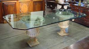 Glass Top Pedestal Dining Room Tables Glass Top Pedestal Dining Table Amazing Tables Contemporary Inside
