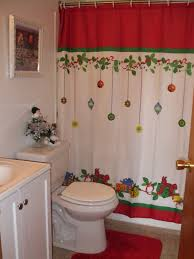 Holiday Decorations 2014 Christmas Bathroom Ornament Shower Curtain Christmas Xmas