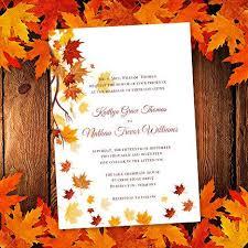 printable wedding invitation template falling leaves make your