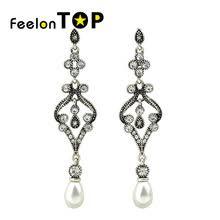 Vintage Pearl Chandelier Earrings Online Get Cheap Pearl Chandelier Earring Aliexpress Com