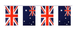 great britain australia friendship bunting flags 5 9 x 8 65