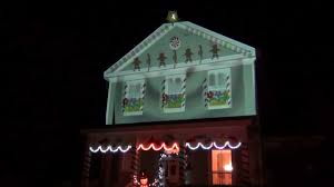 gingerbread house projection mapping 2011