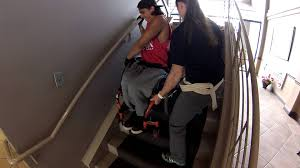 paraplegic climbing stairs in wheelchair 1st try youtube