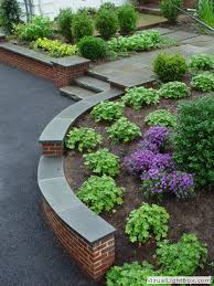 Front Yard Retaining Walls Landscaping Ideas - rock fence designs curved brick retaining wall with front yard