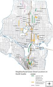 Neighborhoods Seattle Map by Green Streets Seattle Streets Illustrated
