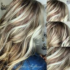silver hair with blonde lowlights beautiful ice blonde highlights with ginger spice red low lights