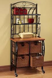 Metal And Wood Bakers Rack Like The Storage Underneath Kitchens U0026 Dining Rooms Pinterest