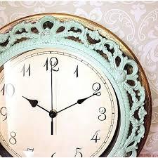 Shabby Chic Wall Clocks by Wall Clock Wall Clock For Nursery Shabby Chic Wall Clock In Mint