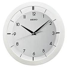 silent wall clocks seiko quiet sweep second hand wall clock brushed