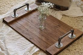 Dining Room Decorative Rustic Industrial Wooden Serving Tray