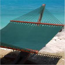 hammock jumbo green and wood stand combo