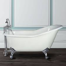 bathroom 54 inch cast iron slipper clawfoot bathtubs
