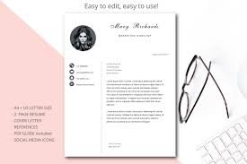 Easy To Use Resume Templates Resume Template Cv Template Simple Sty Design Bundles