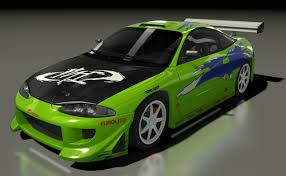 mitsubishi eclipse fast and furious mitsubishi eclipse 1995 f model turbosquid 1230358