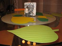 Dining Room Table Placemats by Leaf Shaped Place Mats For Round Dining Table Ikea Hackers