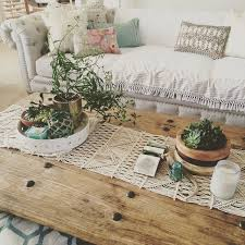 table runner for coffee table handwoven macrame runner anthropologie living rooms and apartments