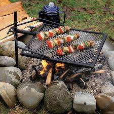 adjust a grill portable campfire swivel grill for grilling while