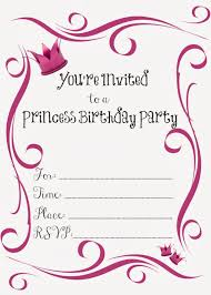 Sweet 15 Invitation Cards Free Printable Princess Birthday Party Invitations Free