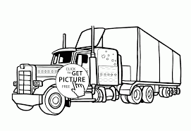 semi trailer truck coloring page for kids transportation coloring
