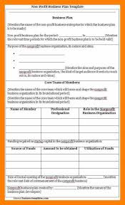 nonprofit business plan template business plan example business