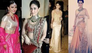 reception sarees for indian weddings 5 actresses reception look indian fashion mantra