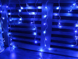 christmas blue led christmas lights sale with white wireblue