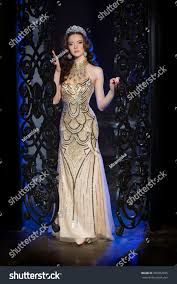 woman lux dress crown queen princess stock photo 356052035