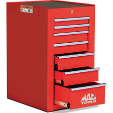 mactools uk 7 drawer tech series side cabinet