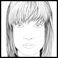 how to draw hair and the human face drawing tutorials u0026 drawing