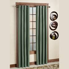 Teal Blackout Curtains Canvas Blackout Grommet Curtain Panels