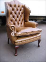 Antique Queen Anne Wing Back Chairs Leather Chairs Of Bath Chelsea Design Quarter Leather Queen Anne