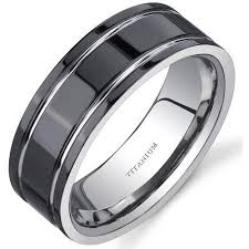 titanium wedding rings oravo men s black comfort fit titanium wedding band ring 8mm