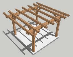 Pergola Plans Free by 12x12 Timber Frame Pergola Plan Timber Frame Hq
