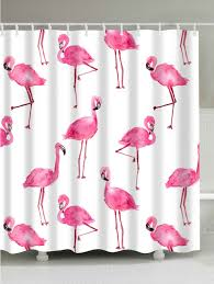 Flamingo Shower Curtains Extra Long Unique Flamingo Bathroom Curtain White W Inch L Inch