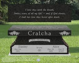 headstone designs bench headstone benches cremation options monuments memorials
