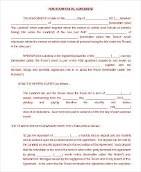 sample room rental agreement month to month room rental agreement