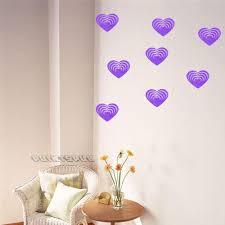 5pcs 3d heart shaped diy art wall sticker room home decor purple set 5pcs 3d heart shaped wooden wall decals removable sticker door decor